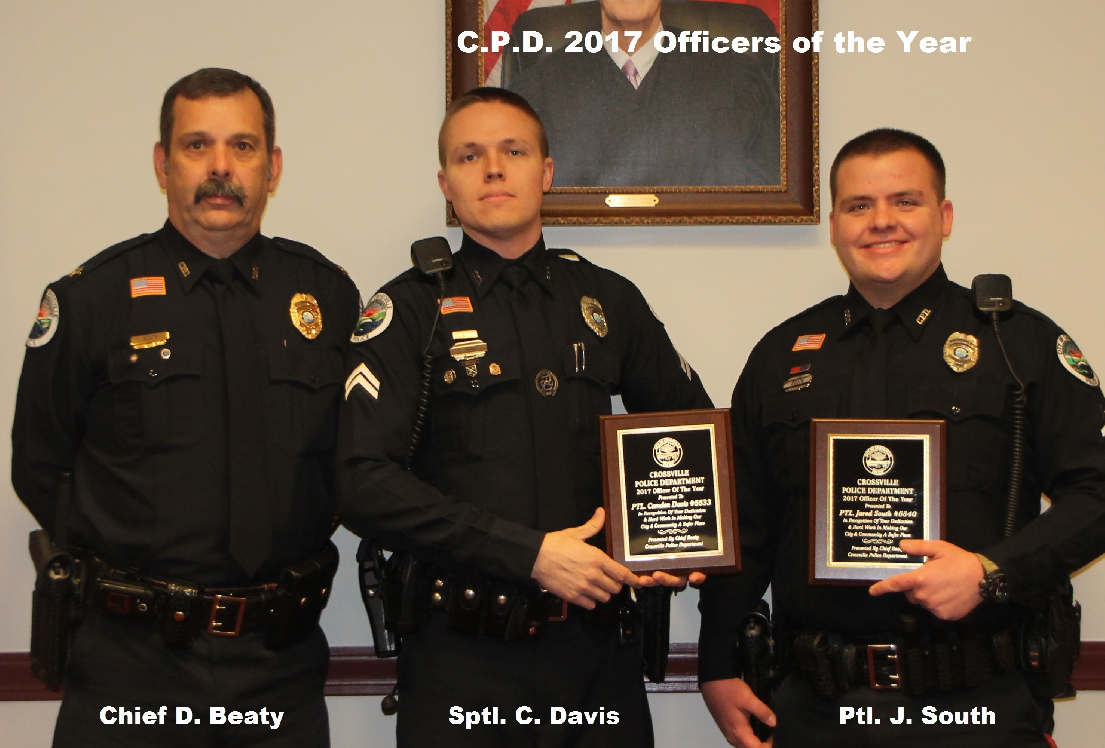 2017 Awards Officer of Year 2